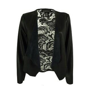 INC International Concepts Women's Faux-Leather Lace Jacket