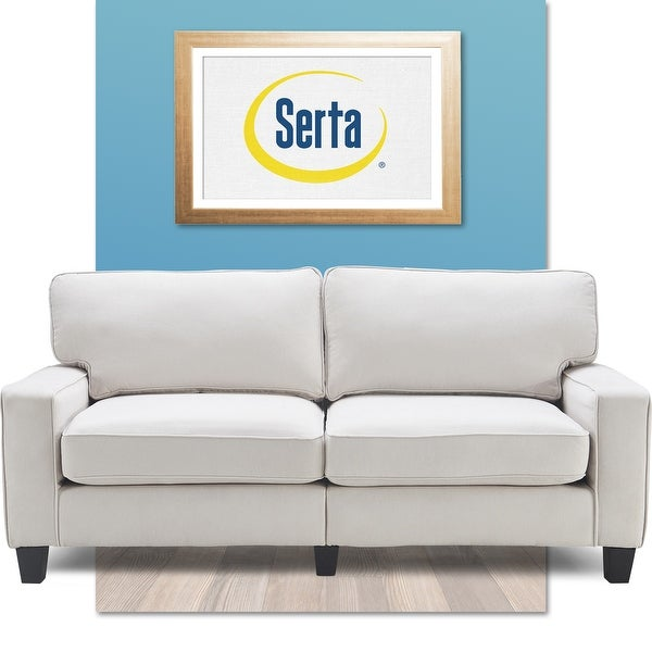 """Serta Palisades Upholstered 78"""" Sofas for Living Room Modern Design Couch, Straight Arms, Soft Upholstery, Tool-Free Assembly. Opens flyout."""