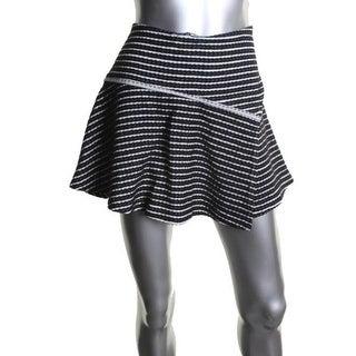 Free People Womens Cotton Patterned Mini Skirt