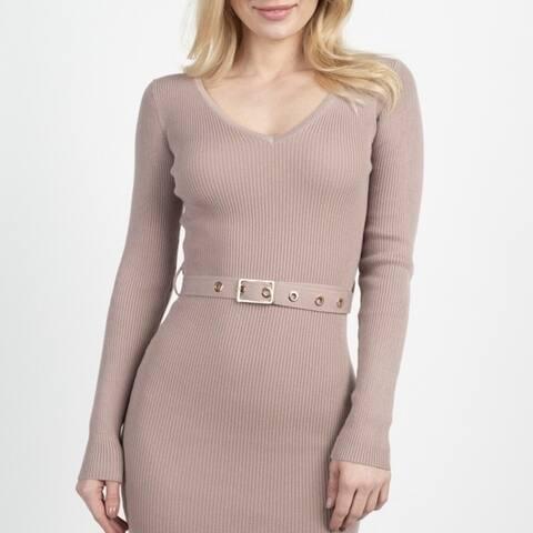 Foiled Ruched Tube Midi Dress
