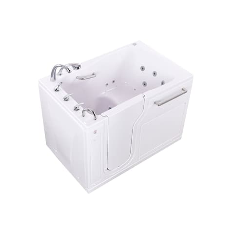 """S-Class 3655 White Acrylic Walk In Tub Air & Hydro Massage, Heated Seat, Fast Fill Faucet, 2"""" Drain"""