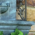 Sunnydaze French Lily Solar Outdoor Wall Fountain, Multiple Colors - Thumbnail 9