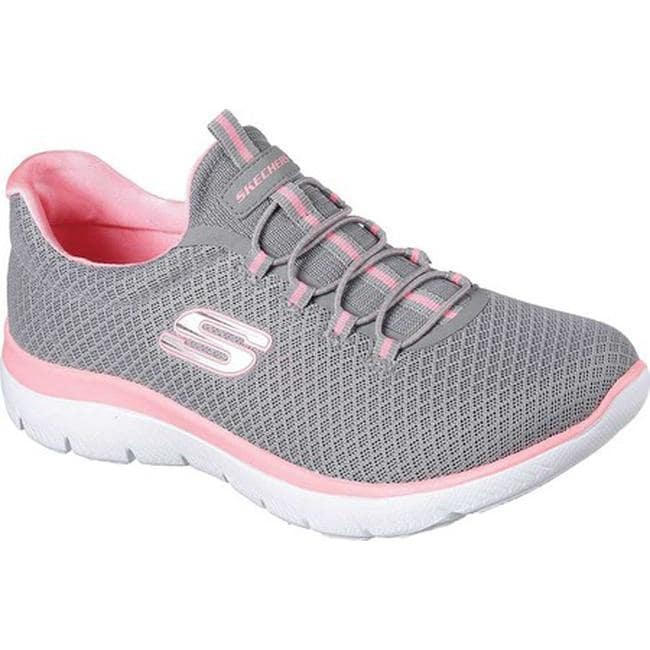 f16d308b5695 Shop Skechers Women s Summits Training Sneaker Gray Pink - Free Shipping  Today - Overstock - 19114257