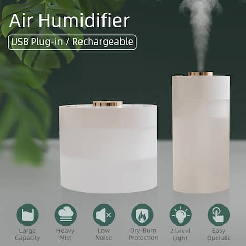 350ml Rechargeable Humidifier Portable Air Humidifier Essential Oil Mist Maker Air Humidification for Home Office