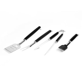 Charcoal Companion CC1005 Perfect Chef Barbeque Tool Set With Black Handle, 4 Piece
