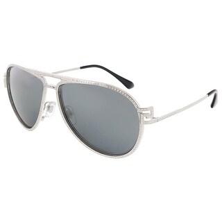 Versace VE2171B 10006G Silver Aviator sunglasses