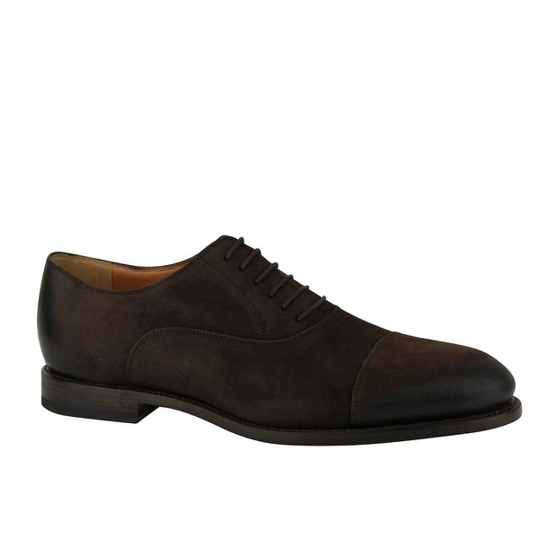 Brown Suede Leather Oxford Shoes 282754