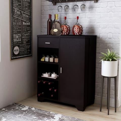 Furniture of America Valentino Contemporary Multi-storage Bar Cabinet