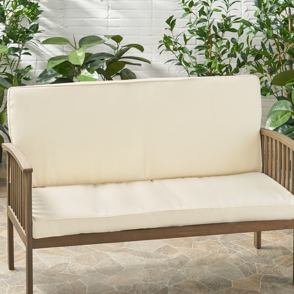 Coesse Outdoor Water Resistant Fabric Loveseat Cushions by Christopher Knight Home. Opens flyout.