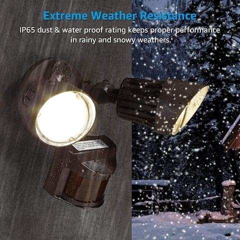 LED Motion Sensor Security Outdoor Flood Light Waterproof IP65, 5000K Daylight