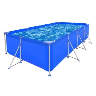 "vidaXL Above Ground Swimming Pool Steel Rectangular 12' 11"" x 6' 10"" 2' 7"""