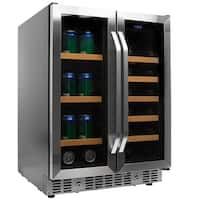 EdgeStar CWB1760FD 24 Inch Wide Wine and Beverage Cooler with French Doors