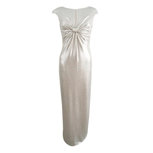 Vince Camuto Women's Metallic Twist-Front Gown - Silver/Gold