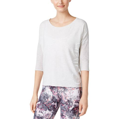 Calvin Klein Performance Womens Tunic Top Reflective Dolman Sleeves