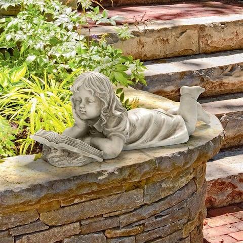 Design Toscano Backyard Scholar Little Girl Reading Garden Statue