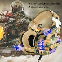 Each G2600 Stereo Bass Surround Gaming Headset for PS4 NewXbox One PC with Mic - Camouflage