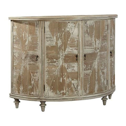 LeMans 50-inch Demilune Cabinet Sideboard in Distressed Finish