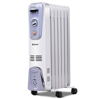 1500W Electric Oil Filled Radiator Space Heater Thermostat