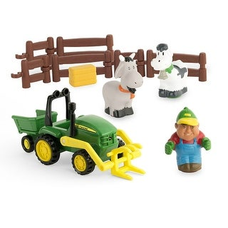 John Deere 43068 First Farming Fun Load Up Play Toy Set, 12-Piece