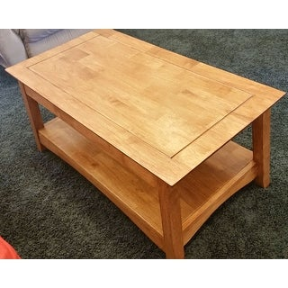 ... Unfinished Solid Parawood Bombay Tall Lift Top Coffee Table