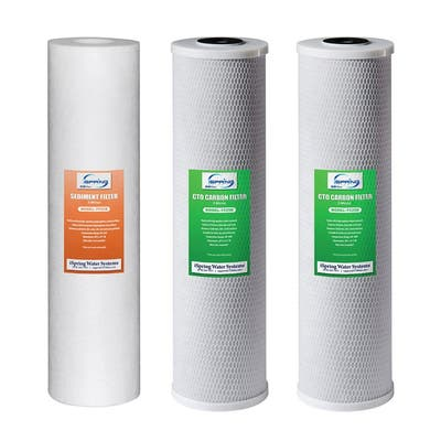 iSpring F3WGB32B 3-Stage 20 inch 3-Piece Whole House Replacement Filter Pack, Fits WGB32B