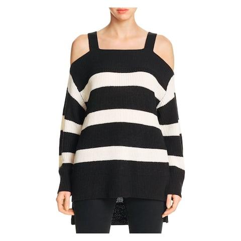 SANCTUARY Womens Black Striped Long Sleeve Sweater Size L
