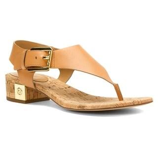 MICHAEL Michael Kors Womens London Thong Leather Split Toe Casual T-Strap San...