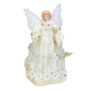 Angel Christmas Tree Topper.14 Lighted Gold Fiber Optic Animated Porcelain Angel Christmas Tree Topper N A Overstock Com Shopping The Best Deals On Seasonal Decor