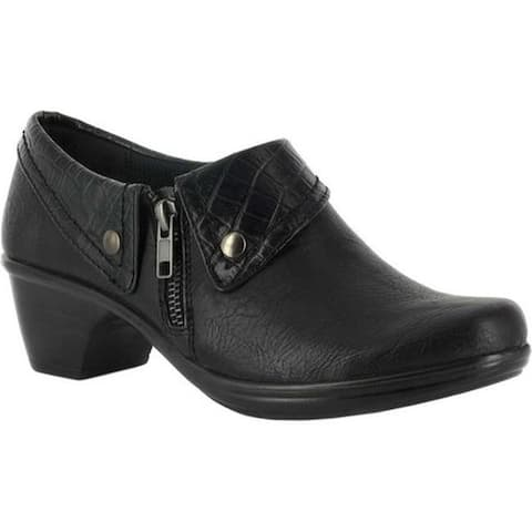 Easy Street Women's Darcy Bootie Black/Black Croco