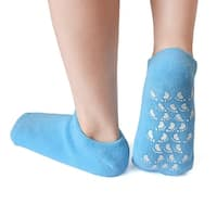 1 Pair Foot Care Moisturising Soften Spa Treatment Non-slip Gel Socks Blue