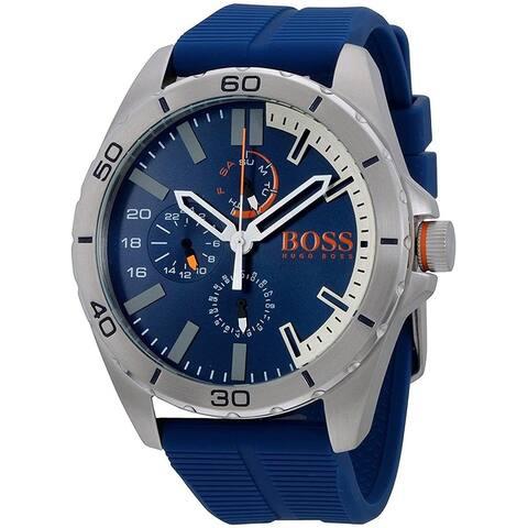 Hugo Boss Men's 1513291 'Orange' Blue Rubber Watch