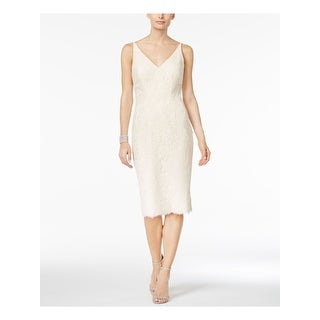 Link to VINCE CAMUTO Ivory Spaghetti Strap Below The Knee Dress 8 Similar Items in Dresses