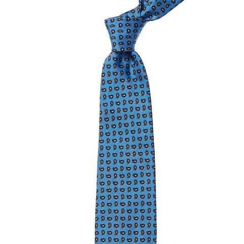 Eton Blue Mini Paisley Silk Tie - os