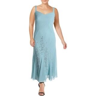 R&M Richards Womens Cocktail Dress Embellished Full-Length - Mauve - 10