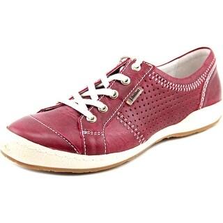 Josef Seibel Caspian Women Round Toe Leather Burgundy Sneakers