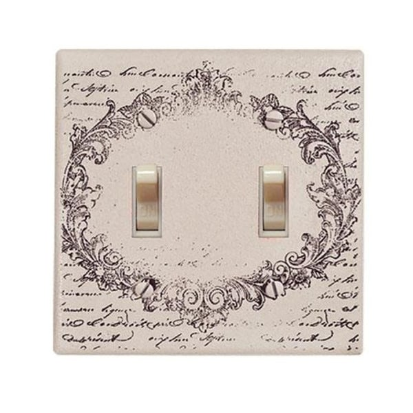 Vintage Postcard Double Switchplate Cover