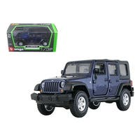 Jeep Wrangler Unlimited Rubicon 4 Doors Blue 1/32 Diecast Car Model by Bburago