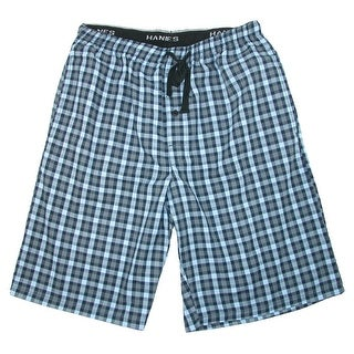 Hanes Men's Big and Tall Madras Sleep Pajama Shorts