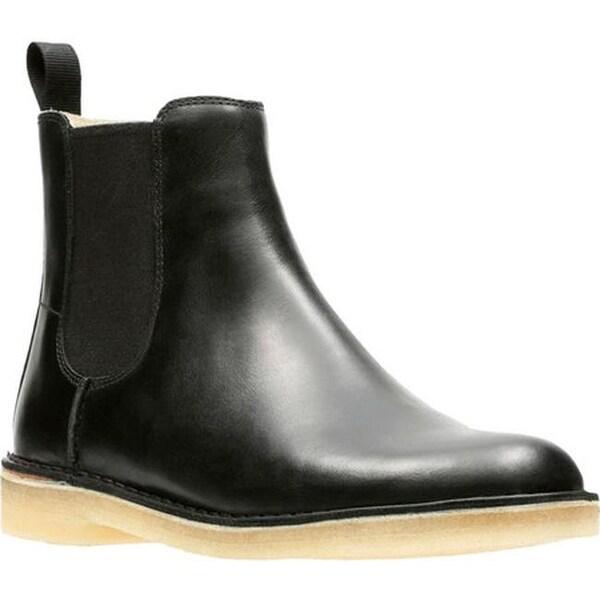 750fa88117d Shop Clarks Men's Desert Peak Chelsea Boot Black Cow Full Grain ...