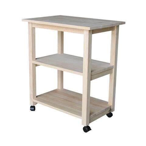 Porch & Den Estelle Solid Wood Microwave Kitchen Cart