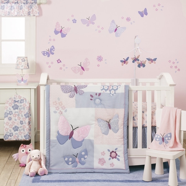 Shop Bedtime Originals Butterfly Meadow Pink Purple White