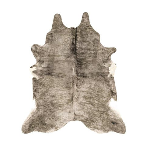 AIRI Collection Animal Print Faux Cowhide Area Rug - 5' Ft x 6'6 Ft