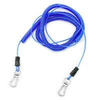 Unique Bargains Plastic Stretchy Coiled Fishing Safety Lanyard Rope Blue 26.2Ft