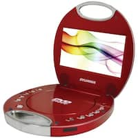 "Sylvania Sdvd7046-Red 7"" Portable Dvd Players With Integrated Handle (Red)"