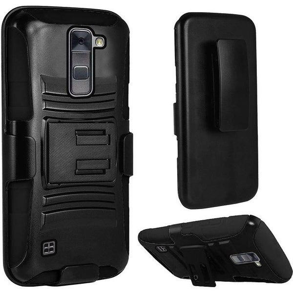 Insten Black Hard PC/ Silicone Dual Layer Hybrid Case Cover with Stand For Samsung Galaxy On5