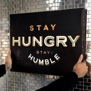 IKONICK Stay Hungry. Stay Humble. Canvas Art