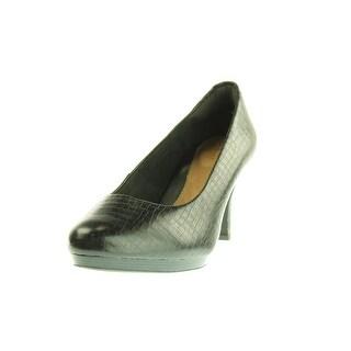Clarks Womens Tempt Appeal Leather Round Toe Heels - 7 medium (b,m)