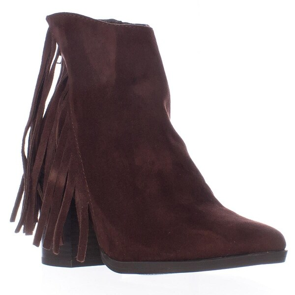 madden girl Shaare Side Fringe Western Boots, Brown - 5 us