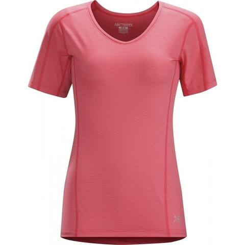 Arc'teryx Motus Crew Short Sleeve Women's Tee Shirt - Pink Tulip