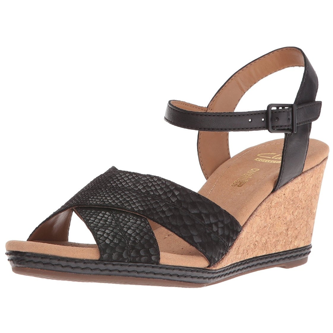 c547ed24e40 Shop Clarks Women s Helio Latitude Wedge Sandal - Free Shipping On Orders  Over  45 - Overstock - 17595098